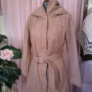 Hooded, Belted, Warm, Jacket